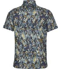 8579 - iver st soft kortärmad skjorta multi/mönstrad sand