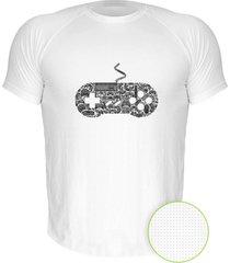 camiseta manga curta nerderia controle snes branco - branco - masculino - dafiti