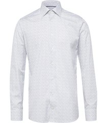 white floral poplin shirt skjorta business vit eton