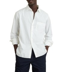 alex mill easy cotton button-up shirt, size small in white at nordstrom