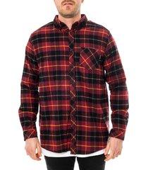 dolly noire camicia uomo shirt tartan bordeaux sr03