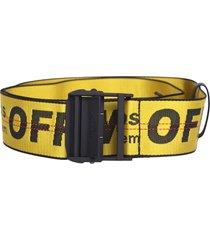 off-white travel luggage belt
