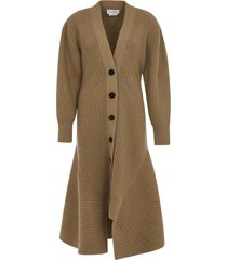 alexander mcqueen all-over striped long coat