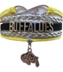 colorado university cu buffaloes fan shop infinity bracelet jewelry