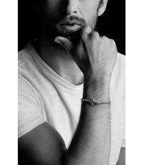 david yurman pave black diamond cross station bracelet, size medium at nordstrom