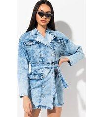 akira respect my mind denim jacket dress