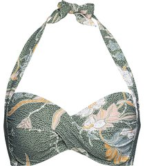 balinese retreat twist soft cup halter bikini top