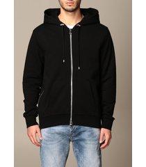 balmain sweatshirt balmain hoodie in cotton with logo