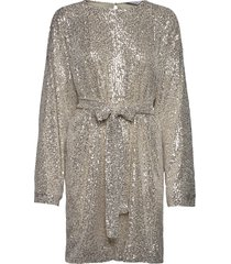 cora sequin dress kort klänning grå camilla pihl