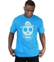 camiseta bleed american beard skull turquesa. - azul - masculino - dafiti