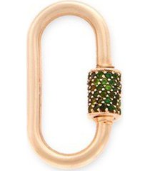'medium stoned lock' tourmaline 14k yellow gold pendant