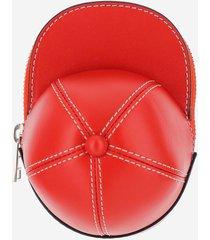 jw anderson designer handbags, red cap bag w/shoulder strap