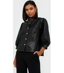 selected femme slfmilla leather shirt b skjortor