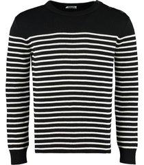 saint laurent striped crew-neck pullover