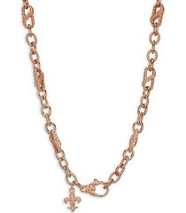 rose-goldplated sterling silver & cubic zirconia chain necklace
