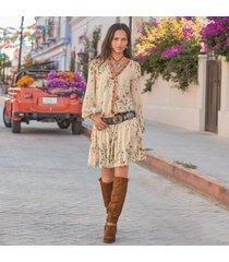 sundance catalog women's bloom everyday dress in botanical xl