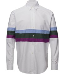 aw18 santiago shirt with stripe inserts overhemd casual multi/patroon soulland