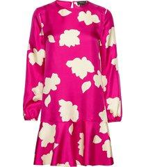flared dress.petal s knälång klänning rosa theory