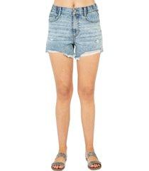 rewash juniors' distressed high-rise denim shorts