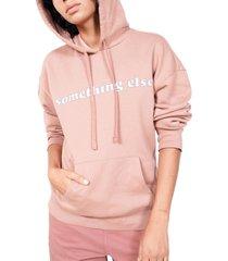 bp. + wildfang fleece sport hoodie, size 4x in purple- tan something else at nordstrom