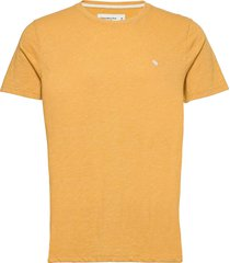 anf mens knits t-shirts short-sleeved gul abercrombie & fitch