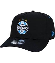 boné new era aba curva 950 grêmio - preto e azul