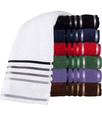 jogo 5 toalhas de banho kit toalha de banho luxo atacado - multicolorido - dafiti