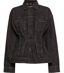 jinx jacket black crinkle jeansjacka denimjacka svart cheap monday
