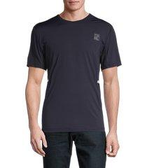 karl lagerfeld paris men's reflective crewneck t-shirt - navy - size s