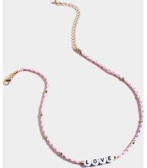 love braided friendship choker - light pink