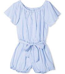 miss blumarine blue cotton playsuit