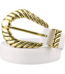 alberta ferretti leather belt