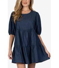 speechless cotton tiered mini dress