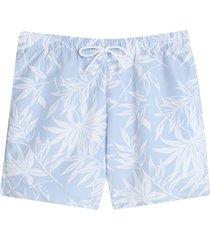 bermuda para hombre playa flores color azul, talla xs