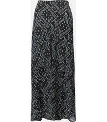 rixo women's kelly midi skirt - black square floral - l