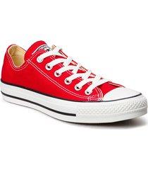 all star canvas ox låga sneakers röd converse