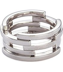 'volume' 18k white gold cutout five tier ring