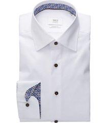 eterna shirt comfort fit wit met zwarte knopen