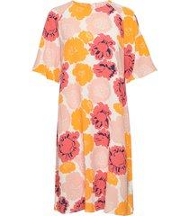 varista pieni pioni dress knälång klänning rosa marimekko