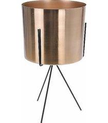 kwietnik metalowy osłonka złota 34 cm