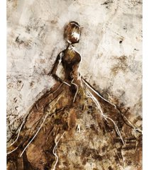 "rustic gown abstract in brown 16"" x 20"" acrylic wall art print"