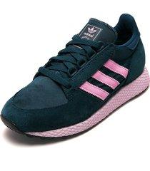 tenis lifestyle azul-rosado adidas originals forest grove w