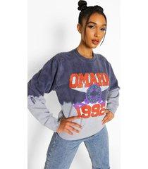 oversized dip dye varsity hoodie, navy