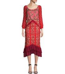 isa embellished midi dress