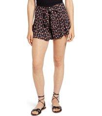 women's kirious tie waist floral shorts