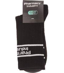 black man socks with white framed logo