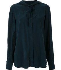 alcaçuz madagascar hooded shirt - blue