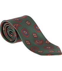 barba napoli green silk tie