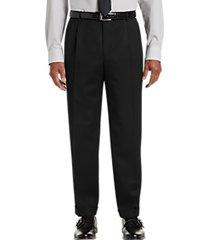 joseph & feiss black classic fit pleated dress pants