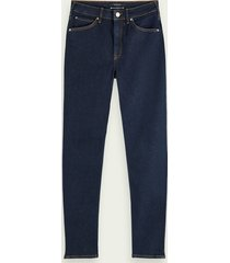 scotch & soda haut - french blue | high-rise skinny fit jeans